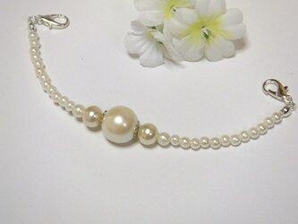 羽織紐◆エレガントな白。o〇結婚式のお呼ばれにの画像