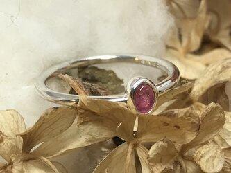トルマリン × シルバーリング pinkの画像