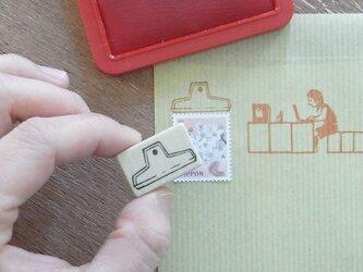 切手飾りはんこ 山型クリップの画像