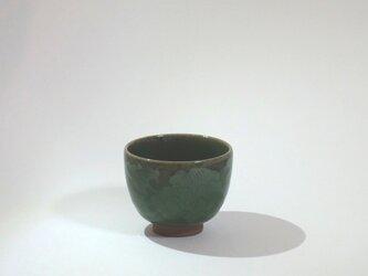 再販:湯呑(青磁象嵌 牡丹)の画像