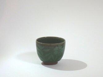 湯呑(青磁象嵌 撫子)の画像