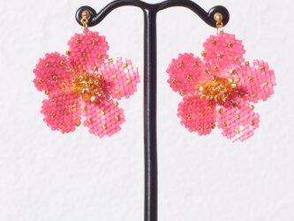 Bijoux Flower Earring ( vivid pink )の画像