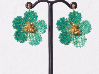 Bijoux Flower Earring ( deep green )の画像