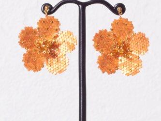 Bijoux Flower Earring ( terracotta )の画像