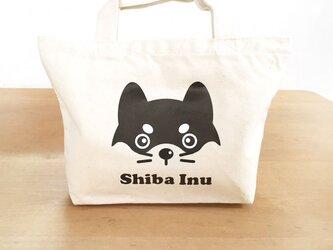 柴犬さんお散歩バッグ コットントートバッグ Shiba Faceの画像