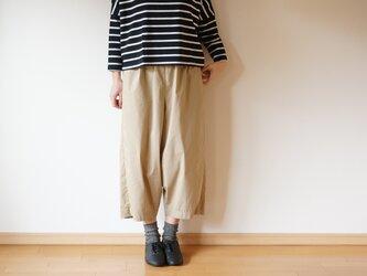 Cotton typewriter balloon pants LADY'S sizeの画像