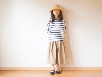 Cotton typewriter tuck skirt 110~140 sizeの画像