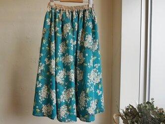 リバティ・ギャザーフレアスカート<Archive Lilac>(アーカイブ・ライラック)の画像