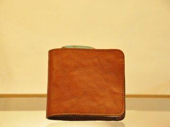 財布 ヴィンテージスタイル茶色の画像