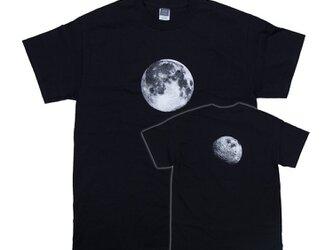 リアルなプリント!月の裏 Tシャツ ユニセックスS〜XLサイズ Tcollectorの画像