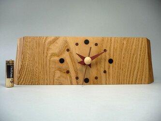 栗の木のお木時計の画像