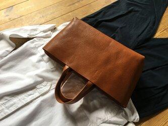【受注製作品】『tosca』革袋 chestnuts brown S 肘掛けの画像