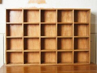 ミンディ材 木製小物入れ トレイ 升箱 木箱 飾り棚 20マスの画像