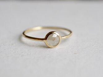 Flat Ring - Natural Diamond K18 - White greyの画像