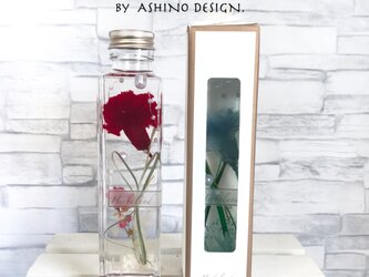 Mothers day -carnation herbarium- ラッピングボックス入り 150ml sizeの画像