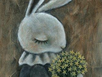 「星の花束」A5 アクリル画 原画の画像