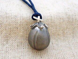 鈴『丸茄子』・大 銀製(シルバー925)の画像