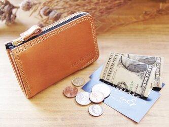 ポケットウォレット(コンパクト財布)/キャメルの画像