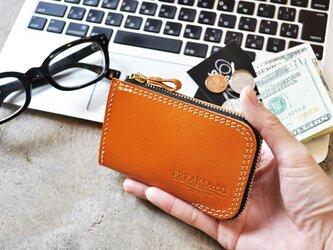 reNEW!!【ポケットウォレット】コンパクト財布/ 栃木レザーキャメルの画像