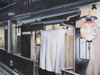 京都•祇園の冬の夜の画像