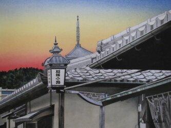 夕暮れの京都の画像