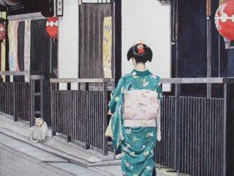 祇園での光景の画像