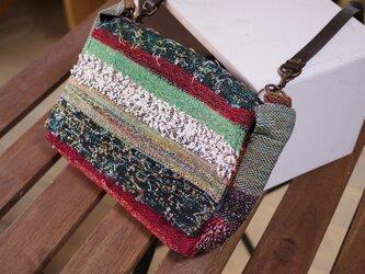 手織り ショルダーバッグの画像