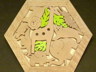 木のパズル どうぶつたち Bの画像