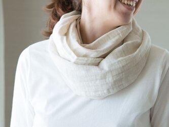 Organic Cotton&linen Wガーゼスヌードの画像