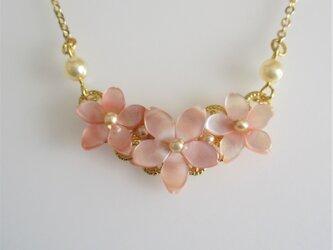 桜*ピンクシェル*3輪ネックレスの画像