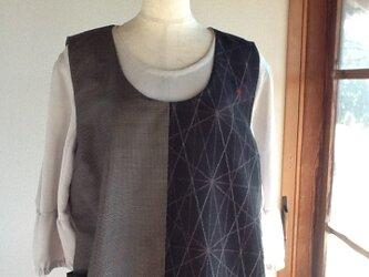 2種の大島紬からのジャンパースカートの画像