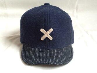 アルファベットキャップ 国産尾州ウールのXの画像