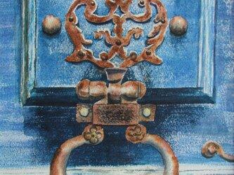 錆び付いたドア•ノッカーの画像