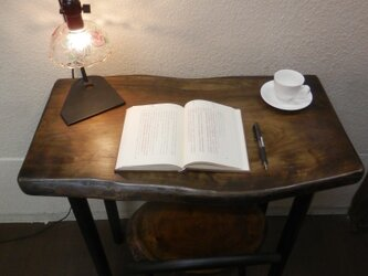 ひのきアイアンテーブル03-10(テーブルのみ)高さ変更可能の画像