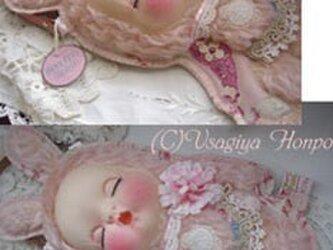 50s淡し野バラ眠り姫うさぎさんの装着ドールポーチ*の画像