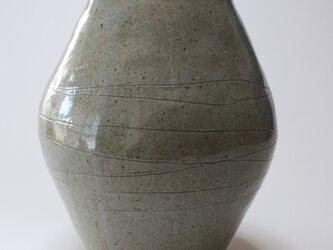 灰釉楕円花入の画像