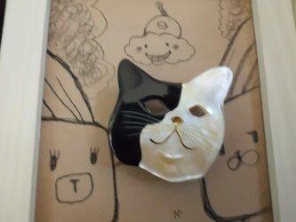 猫さんの帯留めの画像