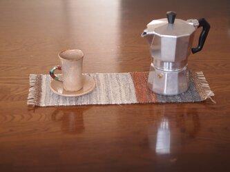 裂き織りミニマットの画像