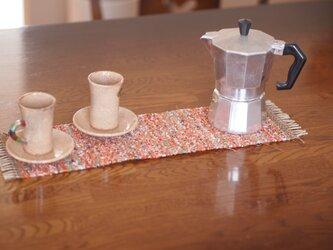 裂き織りテーブルマットの画像