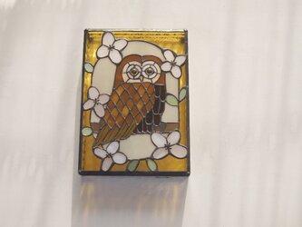フクロウの壁掛けパネルの画像