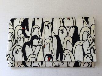 懐紙、通帳いれ Penguin whiteの画像