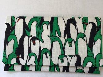懐紙、通帳いれ Penguin greenの画像