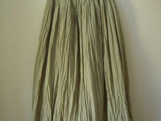mさまオーダー品 草木染めスカート-オリーブ-の画像