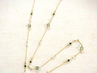 天然石のメガネチェーン(グラスコード)・greenの画像