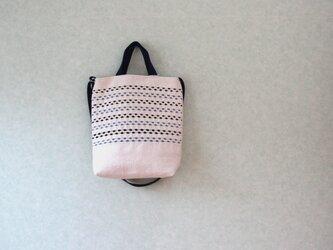 スウェーデン手織りトートバッグ(生成り×ネイビー)の画像