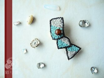 ブローチ【宝石クロワッサン(bb)】の画像