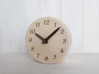 木の香りがする置き時計 直径15㎝ 受注製作の画像
