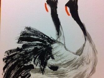 想いを寄せる双鶴の画像