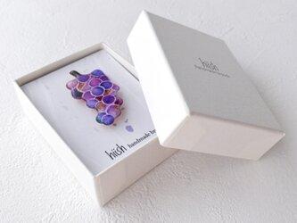 葡萄のブローチの画像