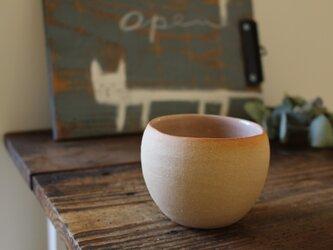 育てるウツワ 揺ら フリーカップ(地器chiki)茶 陶土の画像